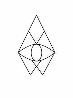 Third eye geometric tattoo flash design