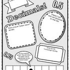 A graphic organizer in disguise!  Students can show what they know about the concept of decimals through this fun and stimulating poster.  Great to...