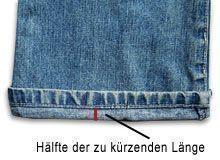 Jeans kürzen mit Originalsaum