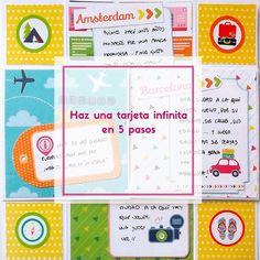 Aprende a crear en este tutorial una tarjeta infinita en 5 pasos: http://anitaysumundo.com/tarjeta-scrapbook-sin-fin/  #infinitycard #card #tarjeta #scrap #manualidades #papel #paper #DIY