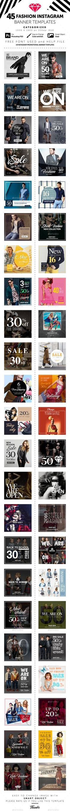 Instagram Banner Templates - Social Media Web Elements