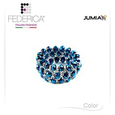 Bracelet BETTA 2  Stretch chain crystal bracelet. Iridescent blue. 1.800,00 Ksh http://www.federicafashion.com/it/ep189/bracelet-betta-2/ http://www.jumia.co.ke/federica-fashion/