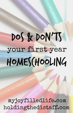 Dos and Don'ts Your First Year Homeschooling: tips for starting homeschool with your kindergartener