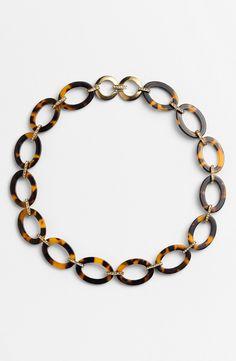 Tortoise Link Necklace.