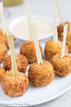 These cheesy BBQ chicken balls with extra crispy crust are so soft and juicy inside. Perfect appetizer for any occasion!