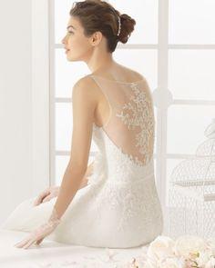 vestido de noiva MIRIAM de AIRE BARCELONA 2016 estilo princesa em em tule e costas em renda 2