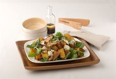 """""""A tasty vege filled salad. This recipe featured in the book """"Fit Food for Winners"""" and was contributed by the athlete Suzie Muirhead. Feta Salad, Clean Eating, Healthy Eating, Recipe Ideas, Kai, Salads, Pumpkin, Wellness, Salad"""