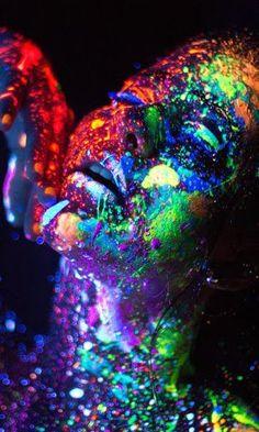 #plur #rave #paint #paintparty #paintrave #follow #edm #neon #blacklight