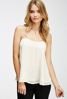 Beaded Cutout Cami | FOREVER21 - 2000065649