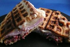Reuben - Use a waffle iron... what a fun twist to my favorite sandwich!