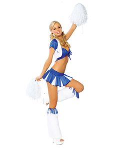 Sexy Lady Cheerleader Costume Here's a Halloween Cheer to go with your Sexy Lady Cheerleader Costume: In the air and on the ground Halloween spirit is all aroun Cheerleader Halloween Costume, 90s Halloween Costumes, Cheerleader Costume, Sports Costumes, Pleated Mini Skirt, Mini Skirts, Sexy Adult Costumes, Cheerleading Pictures, Family Costumes