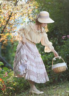 Boguta -Hello! Heidi- Classic Lolita Skirt
