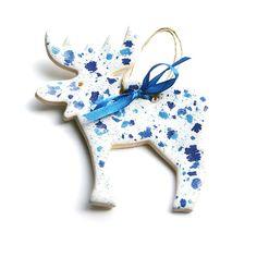 ceramiczny renifer white&blue  :)