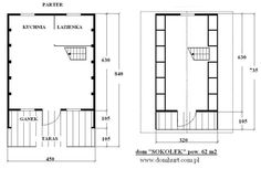Domki letniskowe - SOKOŁEK Floor Plans, Alpine House, Country Houses, Floor Plan Drawing, House Floor Plans
