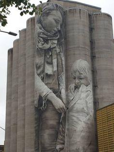 maalaus on Pohjoismaiden korkein muraali. Lappland, Finland, Top Destinations, Statue, Urban Art, Mount Rushmore, Travel Inspiration, Travelling, Street Art
