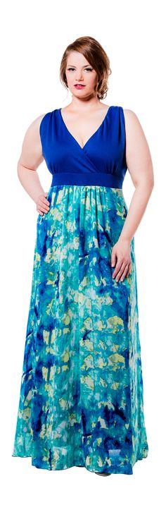 First Impressionist Maxi Dress   Poppy & Bloom  #plussize #fashion Plus size fashion for women