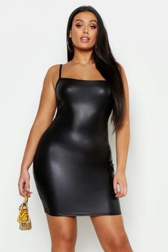 Need unreal plus size dresses ready for any celebration? Check out boohoo's trending edit of curve dresses now! Neon Dresses, Neon Outfits, Fashion Outfits, Womens Fashion, Boohoo Dresses, Red Bodycon Dress, Bodycon Fashion, Leather Mini Dress, Beauty
