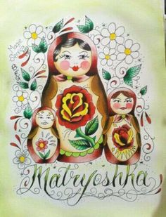 Matryoshka Russian Nesting Dolls by Magie Serpica