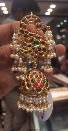 August 2015 ~ Page 2 of 16 ~ South India Jewels Antic Jewellery, Kundan Jewellery Set, Indian Jewelry Earrings, Gold Jewellery Design, Bridal Jewelry, India Jewelry, Gold Jewelry, Gold Pendent, Gold Earrings Designs