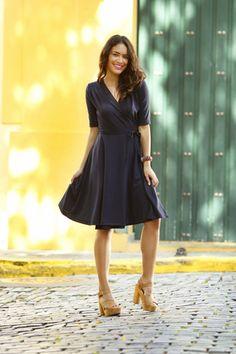 ce78da37547 Ali Wrap Navy Dress. Shabby AppleModest DressesDay ...