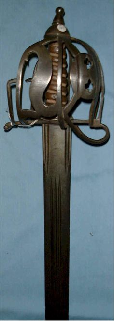 Antique Scottish basket hilted broad sword  , circa 1700