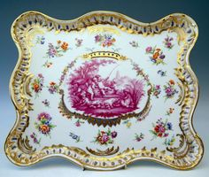 Carl Teichert, Meissen Porcelain Manufactory (Germany) —  Platter Excellently Painted, 19th Century (768x654)