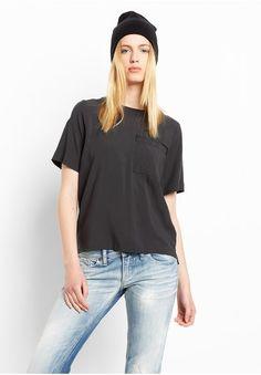 Wemoto Ness Damen Basic T-Shirt, schwarz, size: M