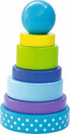 JaBaDaBaDo Steck-Spiel Stapel-Turm blau W7010 bei Papiton bestellen.