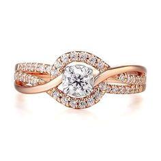 3/8 ct. tw. Diamond Engagement Ring in 10K Rose & White Gold - 2308960 - Helzberg Diamonds #WhiteGoldJewellery #helzbergdiamonds