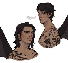 A Court Of Wings And Ruin, A Court Of Mist And Fury, Fanart, Charlie Bowater, Feyre And Rhysand, Bat Boys, Sarah J Maas Books, Look At The Stars, Book Boyfriends