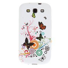 Morning Glory e il modello di farfalla in plastica morbida Back Cover per Samsung Galaxy S3 I9300 – EUR € 3.83