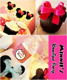 Love these minnie mouse cupcakes could lose the bow to be mickey