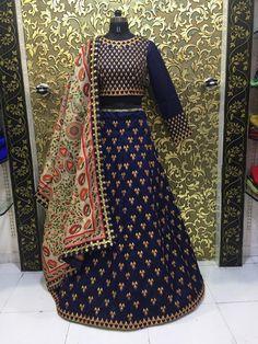 *Matsya Blue Triangle (Semi-Stitch)* Lehenga Fabric:- Banglory Silk+Fusing and Can Can Work:-Heavy Embroidery Work Blouse:- Banglory Mtr) Dupatta:-Silk Dupatta Work:-Print Work+Embroidery Lace mtr) Wedding Lehenga Online, Lehenga Choli Online, Pink Lehenga, Bridal Lehenga, Lehnga Blouse, Silk Dupatta, Indian Wedding Wear, Half Saree, Anarkali