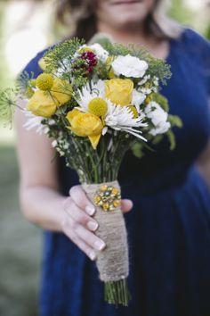 vintage-inspired bridesmaid bouquet // photo by Love Me Do Photography // http://ruffledblog.com/handmade-new-jersey-wedding