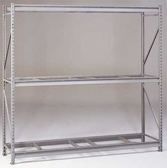 TENNSCO 6940 Rack,Bulk Storage by Tennsco. $266.40. Bulk Storage Rack, Starter, Rack Type Heavy Duty Bulk Rack Starter Unit, Width 72 In., Depth 24 In., Height 96 In., Beam Capacity 2750 lb., No Decking, 3 Levels, Shelf Levels Adjust in 2 In. Increments, 14 Gauge Steel Uprights, Medium Gray, Powder Coat Finish