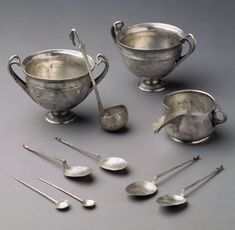Tableware from the Tivoli Hoard  Period: Late Republican Date: mid-1st century B.C. Culture: Roman Medium: Silver