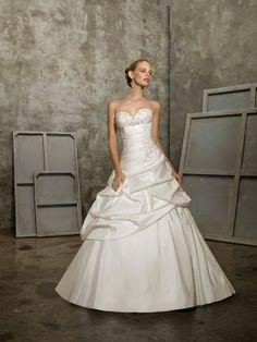 A-line Sweetheart Taffeta Sweep Train Pick-Ups Wedding Dresses Shop uk