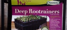 Deep Rootrainers are ideal for growing Sweet Peas, runner beans, French beans and other deep rooted plants.  Rootrainers are available from Haxnicks.
