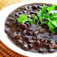 Schwarze Bohnen auf mexikanische Art