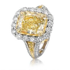 Christopher Designs fancy yellow diamond ring