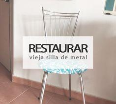 Restaura el asiento de una vieja silla de metal
