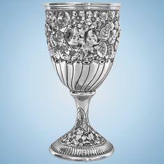 Antique Gorham American Sterling Goblet, C.1890 Silver Cutlery, Sterling Silver Flatware, Silver Jewelry, Vintage Silver, Antique Silver, 925 Silver, Antic Jewellery, Gorham Sterling, Vase Shapes