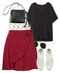 """""""Untitled #6227"""" by rachellouisewilliamson ❤ liked on Polyvore featuring Zara, Superga, Ray-Ban and ASOS"""