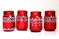 mason jars - christmas