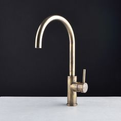 Our handsome Pegasi M Sink Mixer Curve 220 in the sought after Antique Brass Light finish, as featured in the latest House & Garden magazine. With a generous height and reach this swivel mixer is ideal for workflow at the sink. Model shown: Kitchen Mixer, Kitchen Handles, Kitchen Dining, Antique Brass Bathroom Faucet, Basin Mixer, Sink, Kitchen Ideas, Kitchen Inspiration, Antiques