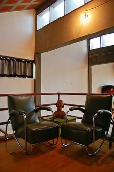 Diego Rivera & Frida Kahlo's House, area above Diego's Studio Love those chairs. there are four more in the studio.