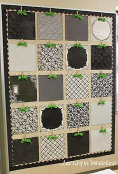 I think this looks pretty empty! Modern squares in all different black and white papers with a pop of green is just calling for creativity to be featured here. Pop on over to the blog Learning in W…