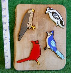 Handmade Painted Birds Wooden Puzzle