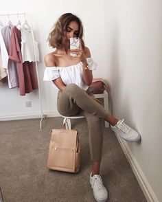 Great for summer White off shoulder blouse