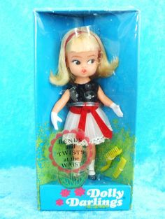 ~ SALE~ NRFB Vintage DOLLY DARLING Tea Time DOLL Hasbro 1967 NEW in Sealed Box #DOLLYDARLING